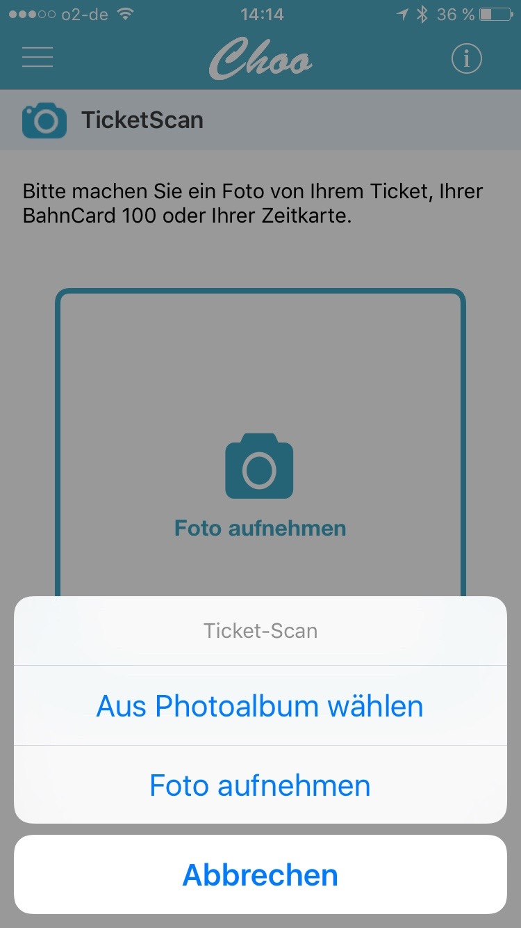 Choo App Screen Ticket Scan